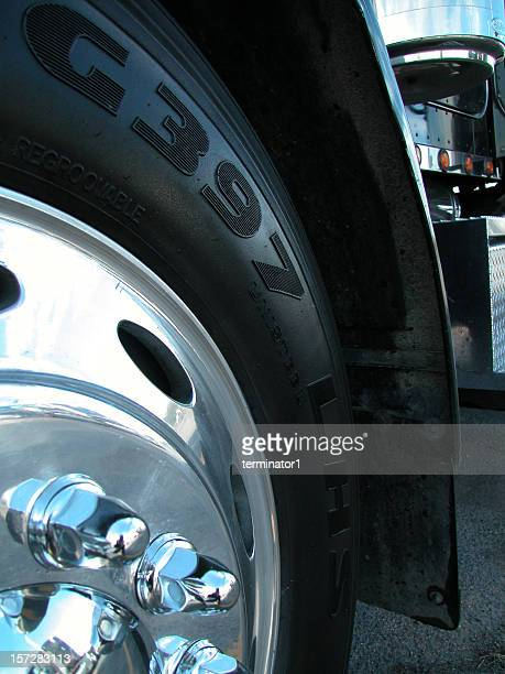 close up semi wheel