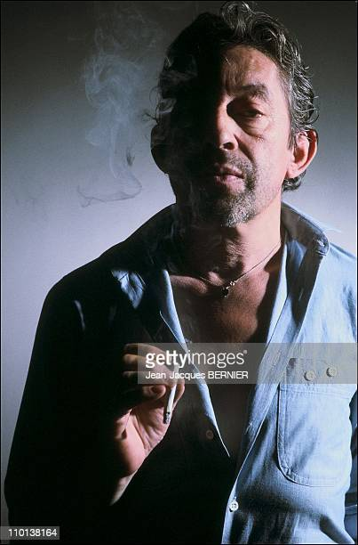 Close up Serge Gainsbourg in ParisFrance on July 10th1985