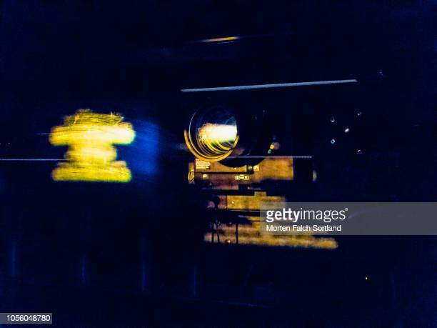 close up shot of a cinema projector in oslo, norway wintertime - film and television screening stock pictures, royalty-free photos & images