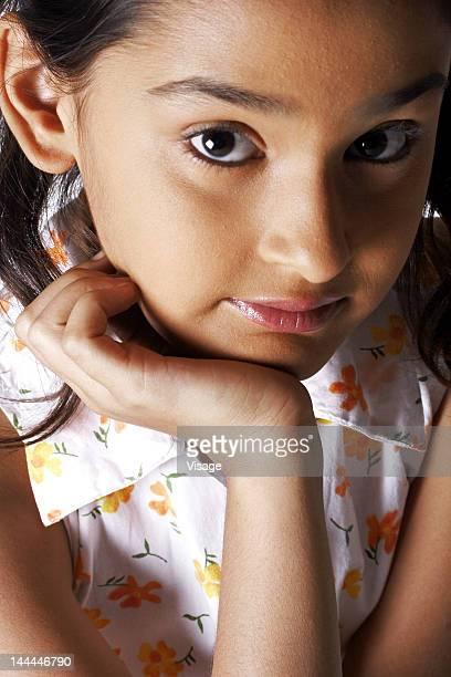 Close up shot of a girl