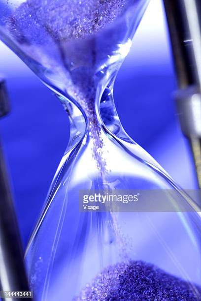 Close up shot of a sand hour glass