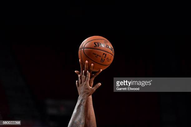 A close up shot of a tip off between the Philadelphia 76ers and the NBA DLeague Select Team during Round One of the 2016 Las Vegas Summer League...