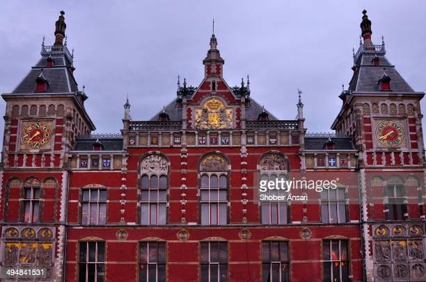 Close up shot of Amsterdam centraal Station Netherlands