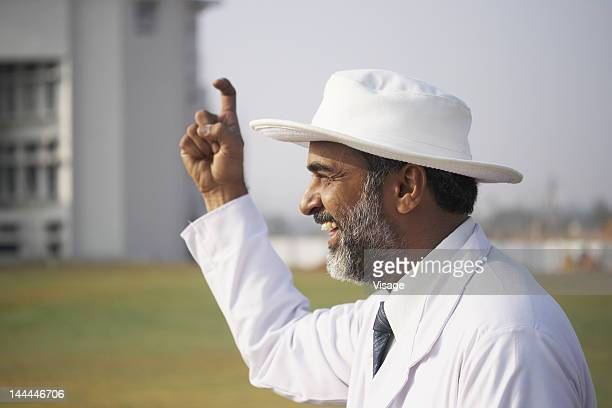 close up shot of an umpire - dismissal cricket stock pictures, royalty-free photos & images