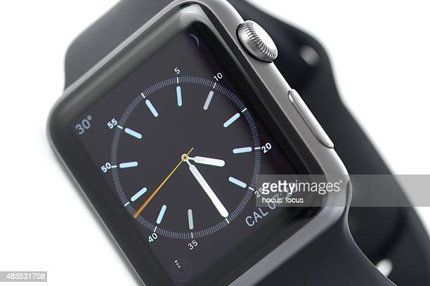 Close up shot of Black Apple Watch Sport