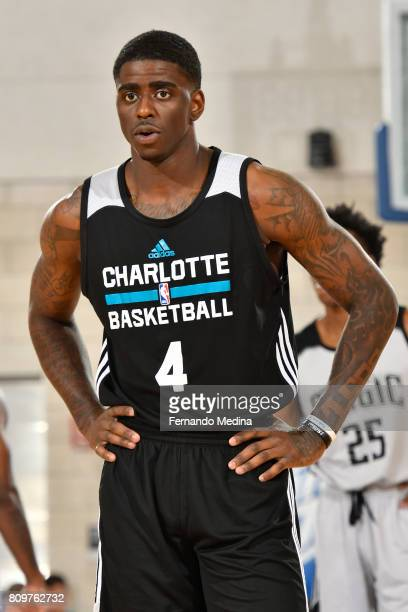 A close up shot of Dwayne Bacon of the Charlotte Hornets during the Mountain Dew Orlando Pro Summer League game against the Orlando Magic on July 6...
