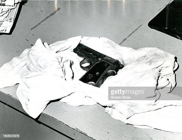 Close up shot of eight shot Brevettais gun which was found in Albert DeSalvo's room where he was hiding in Lynn Mass Feb 27 1967 The gun was in a...