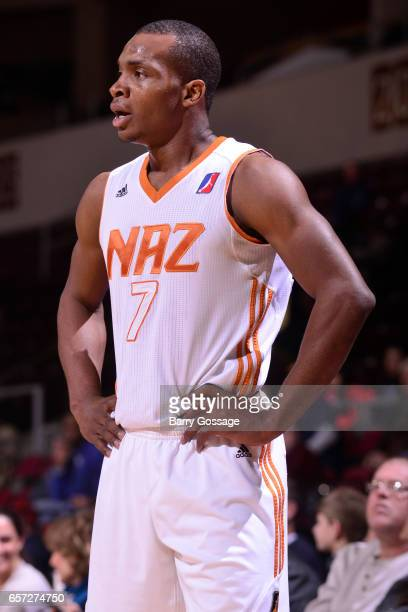 A close up shot of Elijah Millsap of the Northern Arizona Suns during the game against the Texas Legends on March 23 2017 at Prescott Valley Event...
