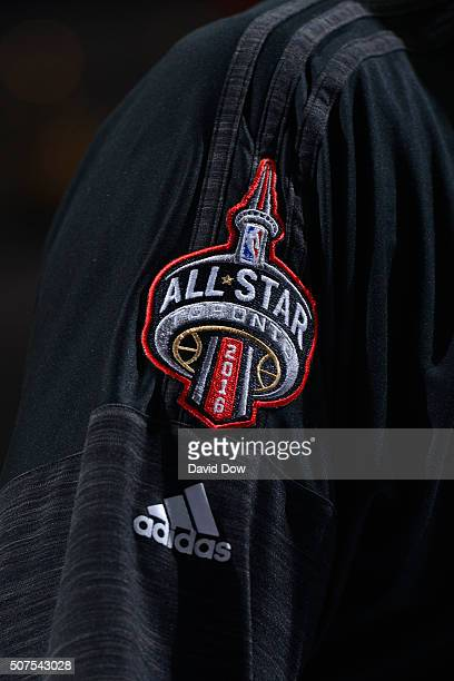 A close up shot of the 2016 Toronto NBA All Star logo during the game against the Philadelphia 76ers at the Wells Fargo Center on January 9 2016 in...