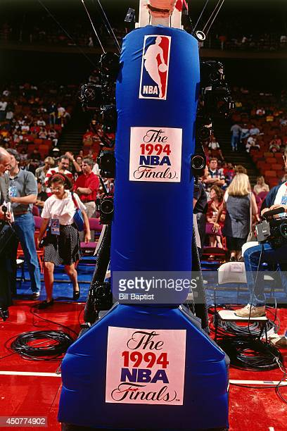 A close up shot of the hoop stand during Game Six of the NBA Finals on June 19 1994 at The Summit in Houston Texas NOTE TO USER User expressly...