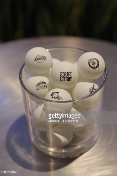 A close up shot of the lottery balls during the 2017 NBA Draft Lottery at the New York Hilton in New York New York NOTE TO USER User expressly...