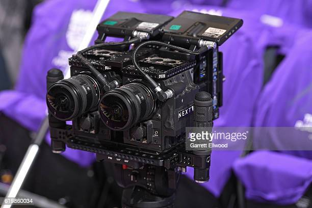 A close up shot of the NextVR Cameras before the San Antonio Spurs game against the Sacramento Kings on October 27 2016 at the Golden 1 Center in...