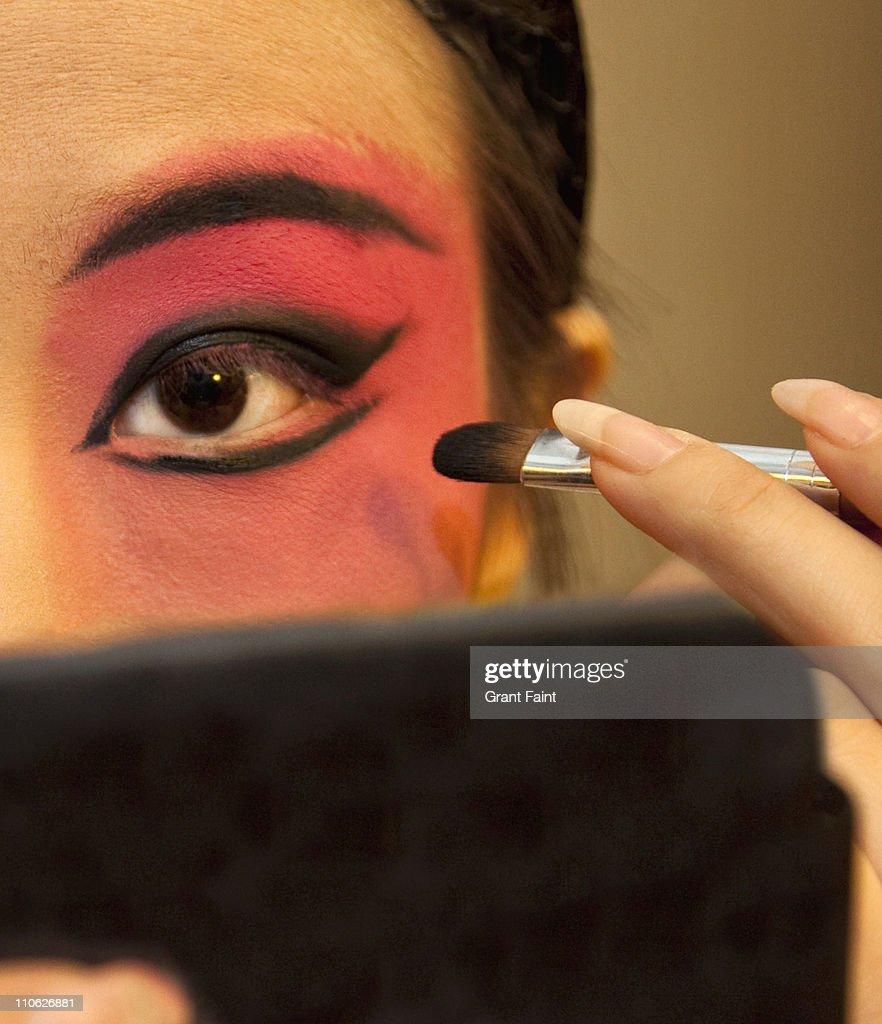 Close up singers eye. : Stock Photo