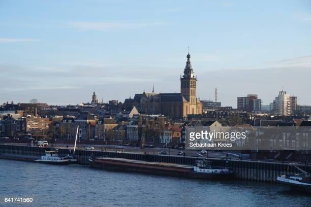 close up skyline historic nijmegen, the netherlands - nijmegen stock pictures, royalty-free photos & images