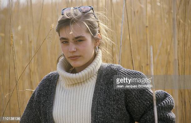 Close up Sophie Duez In Camargue in France on March 3nd, 1985.