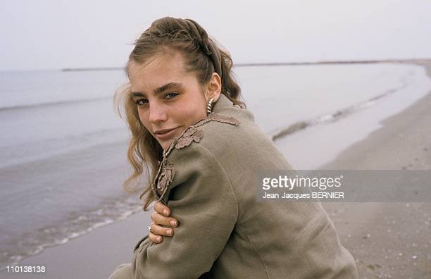 Close up Sophie Duez In Camargue in France on March 3nd 1985