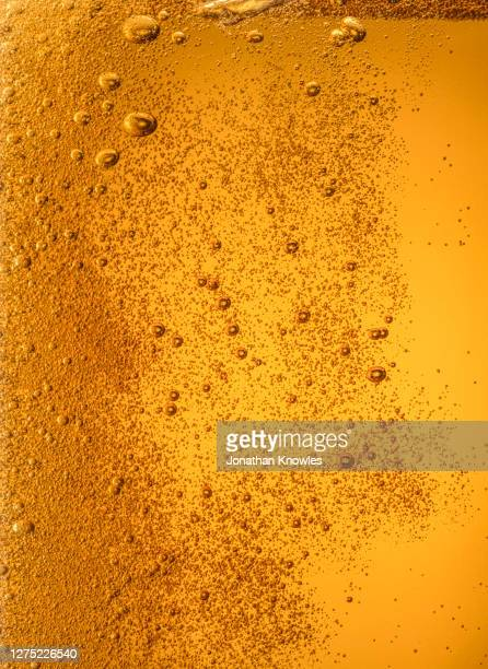 close up tiny beer bubbles - pattern stock pictures, royalty-free photos & images