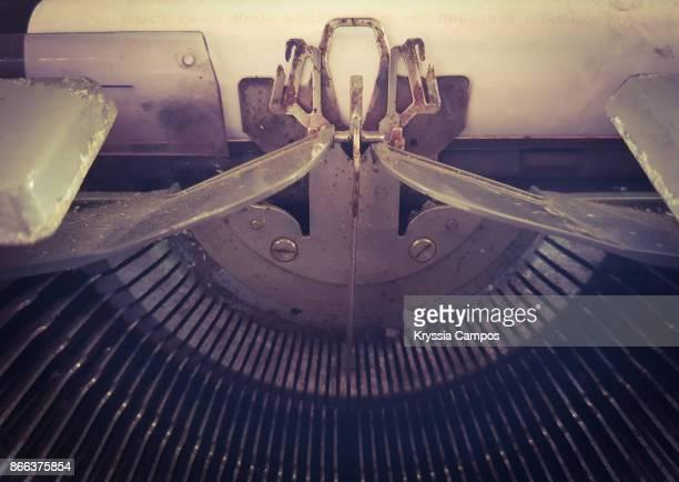 Close up to a Vintage Manual Typewriter