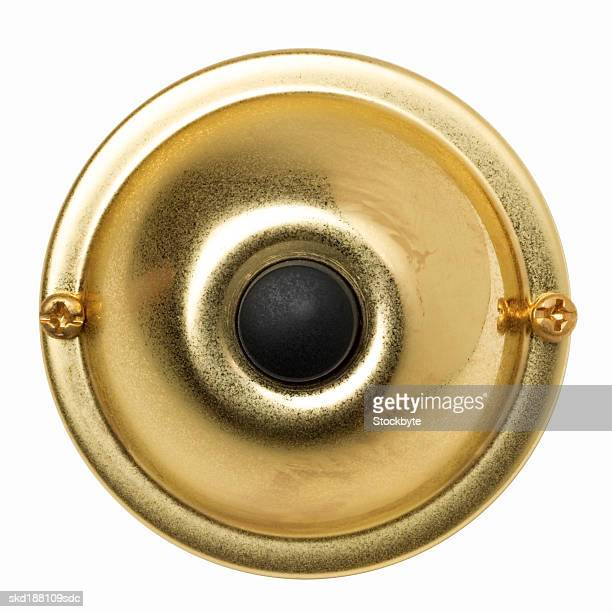 close up view of a doorbell - door bell stock photos and pictures