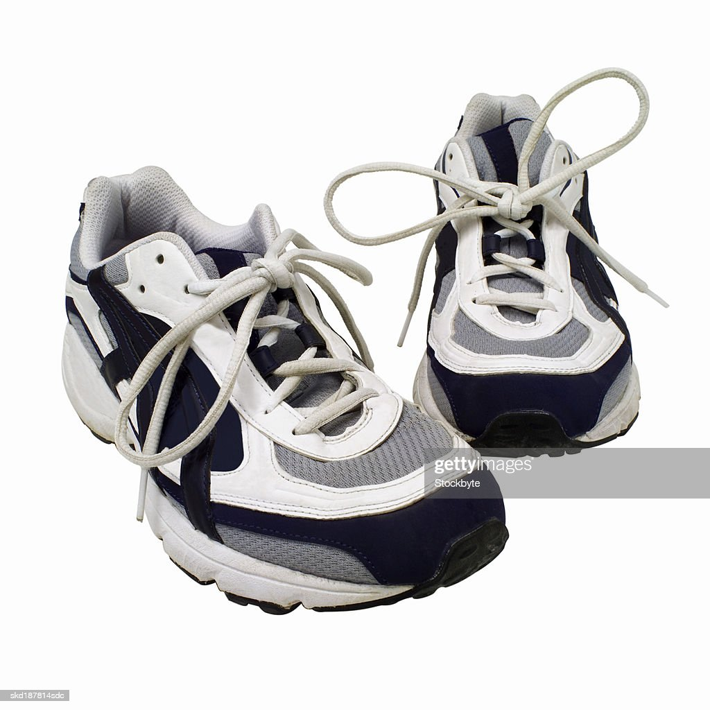 Close up view of a pair of trainers : Stock Photo