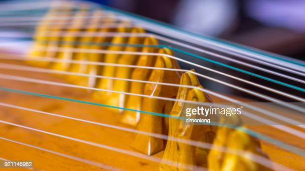 close up view of chinese musical instrument string - string instrument stock photos and pictures