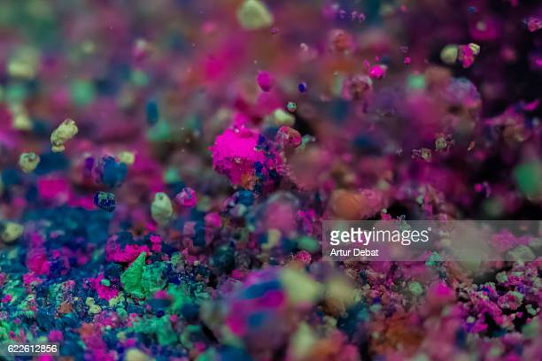 close up view of colorful powder dust mixed and captured in motion with nice art and abstract creative pictures. - zoom background stock pictures, royalty-free photos & images
