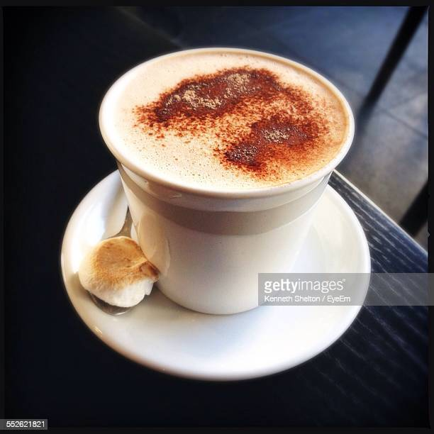 Close Up View Of Cup Of Cappuccino