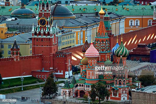 Close up view of Moscow Kremlin