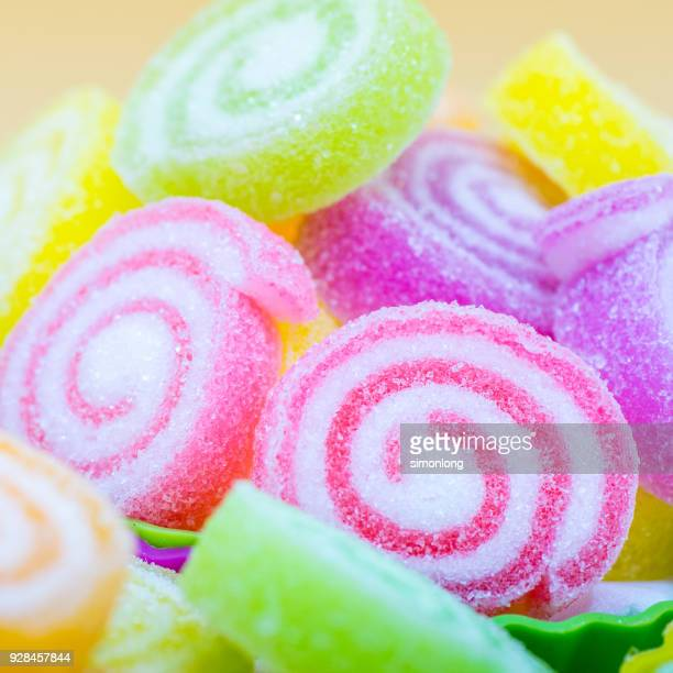 Close up view of Neon Colour Candy Swirl
