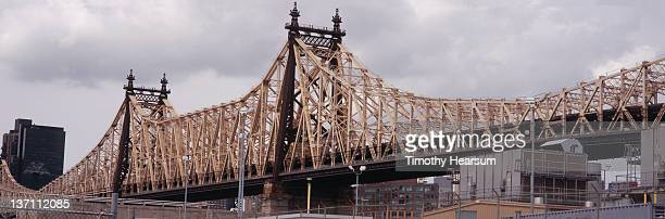 close up view of queensboro bridge - timothy hearsum stock pictures, royalty-free photos & images