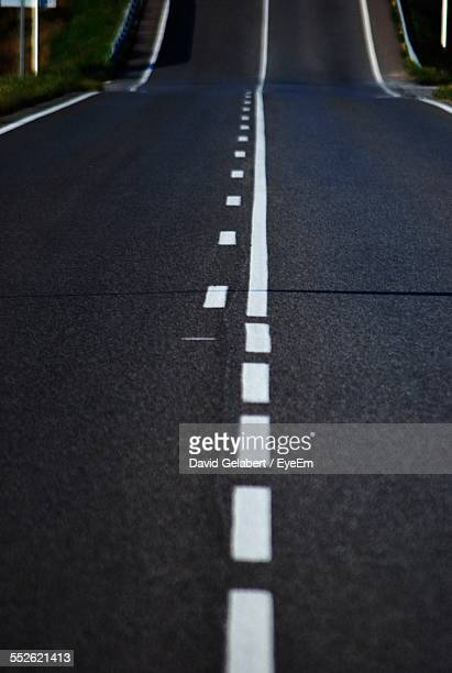 Close Up View Of Road Marking