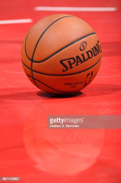 A close up view of the official NBA Adam Silver Spalding ball during the game between the LA Clippers and the Minnesota Timberwolves on December 6...