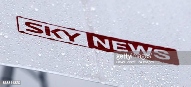 Close up view of the Sky News logo