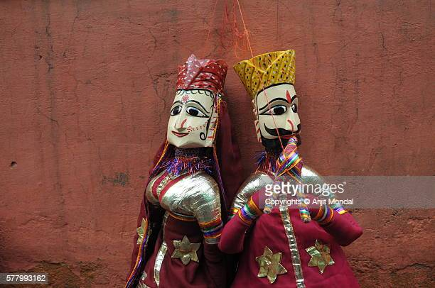 Close up view of traditional Rajasthani Puppet