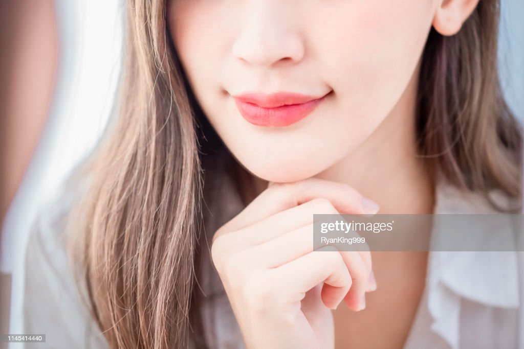 close up woman lip : Stock Photo