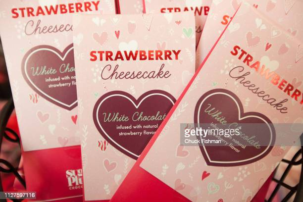 Close ups of various products and foods at The Chocolate Expo held at the Garden State Plaza Mall Paramus New Jersey January 2019