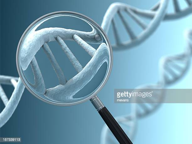 Close View of a DNA Strand