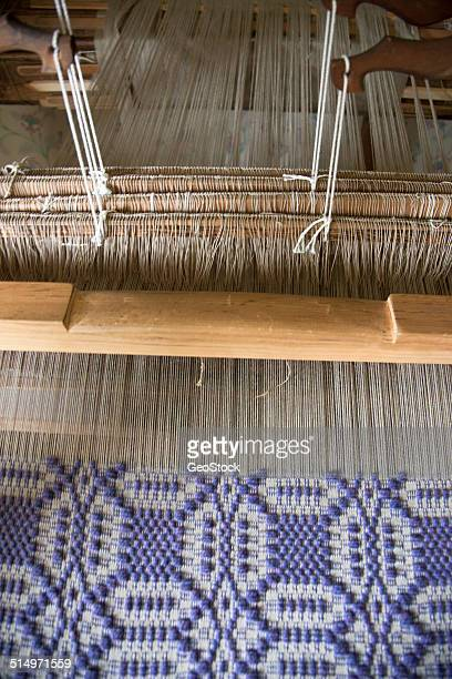 Close view of an antique loom