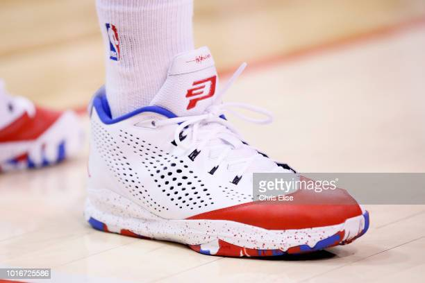 Close view of Los Angeles Clippers point guard Chris Paul shoes during the Los Angeles Clippers 11592 victory over the San Antonio Spurs at the...