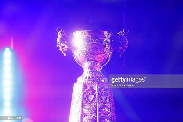 Close view of the PBR World Champion trophy during the PBR World Finals, on November 15th at the AT&T Stadium, Arlington, TX.