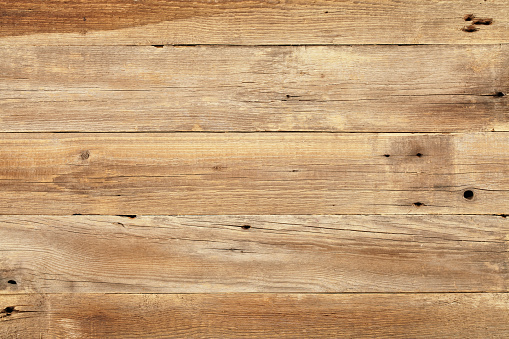 Close view of wooden plank table 175166558