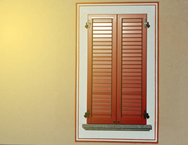 Close Window With Window Shutters, Italy Style
