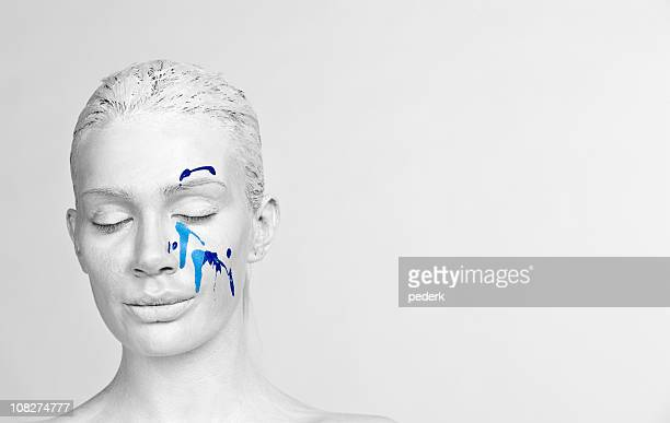 close your eyes - body paint stock pictures, royalty-free photos & images