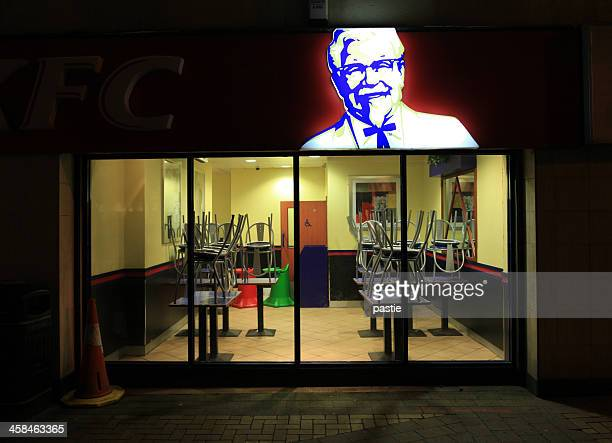 closed and cleaned kfc - kentucky fried chicken stock photos and pictures