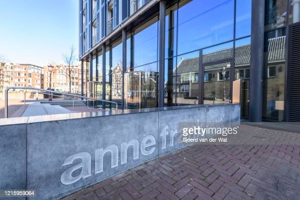 Closed Anne Frank House Museum in Amsterdam during a weekday morning following the advice of the Dutch government to stay at home for prevention of...