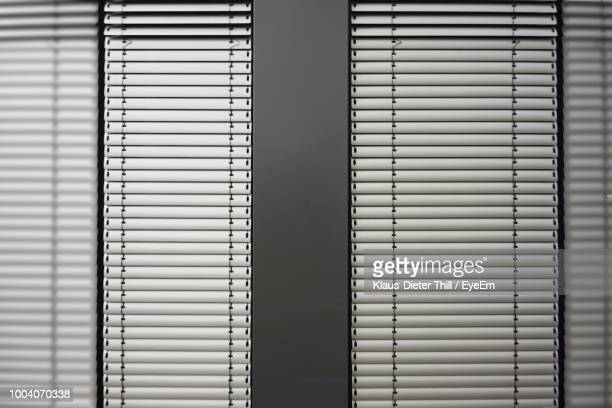 Closed Blinds In Room