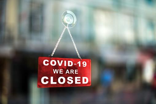 Closed business due to Coronavirus 1213857346