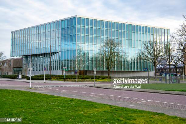 Closed courthouse after the Dutch government announced new measures for prevention of spreading of the Corona Covid-19 virus on March 16, 2020 in...