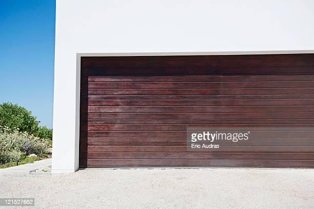 Closed door of a garage