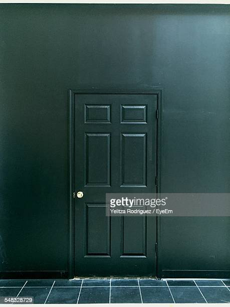 closed door of house - door knocker stock photos and pictures